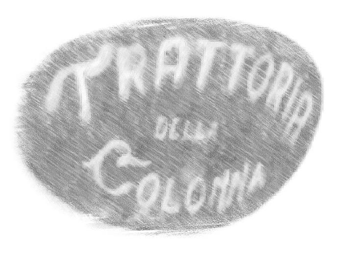 Insegna Ristorante Trattoria della Colonna San Nicolo Piacenza
